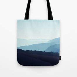 Blue relaxing landscape - mountains - happy days Tote Bag