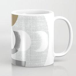Abstract Shape Minimal Art, Moon Outdoor Print, Boho Modern Aesthetic Designs, Mid-Century-Modern Decor Coffee Mug