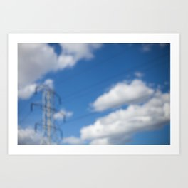 HOME: EARLY OCTOBER, CLOUDS & ELECTRICITY  Art Print