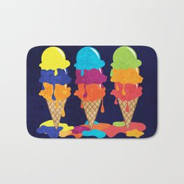 Colorful Ice Cream  Bath Mat