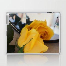 Single Yellow Rose of Texas Laptop & iPad Skin