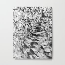 Natural steps stairway Iceland | Landscape & Travel Photography Metal Print
