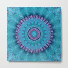 Mandala turquoise no. 2 Metal Print