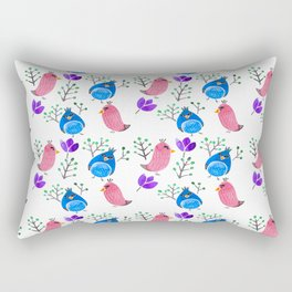 Angry Birds in Spring Rectangular Pillow