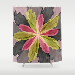 No Sadness, Joy, Fantasy Flower Shower Curtain
