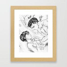 Guts And Casca Framed Art Print
