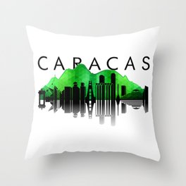 Caracas Skyline Throw Pillow