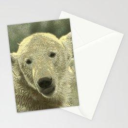 Metal Polar Bear Stationery Cards