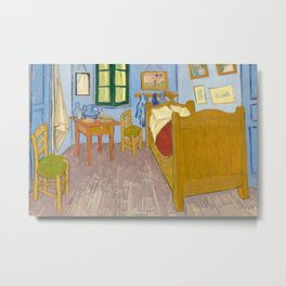 Van Gogh - Bedroom in Arles - Painting Metal Print