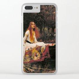 John William Waterhouse The Lady Of Shalott Clear iPhone Case