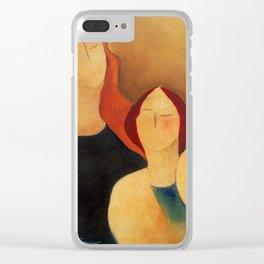 Two women Clear iPhone Case