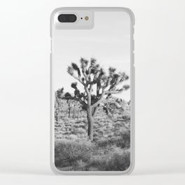 Large Joshua Tree in Black and White Clear iPhone Case