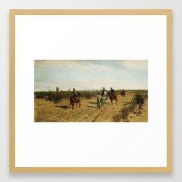 Maksymilian Gierymski, Insurgent Patrol (Insurgent Picket), 1873 Framed Art Print