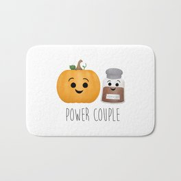 Pumpkin + Spice = Power Couple Bath Mat
