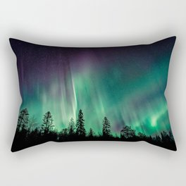 Aurora Borealis (Heavenly Northern Lights) Rectangular Pillow
