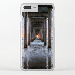 PACIFIC OCEAN SUNSET CALIFORNIA SCRIPPS PIER LA JOLLA SAN DIEGO Clear iPhone Case