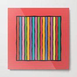 dp203-1 Colorful Stripes Metal Print
