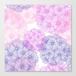Abstract Verbena Flowers Canvas Print