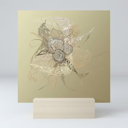 50 Shades of lace Gold Gold Mini Art Print