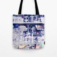 cameras Tote Bags featuring Cameras by Sushibird