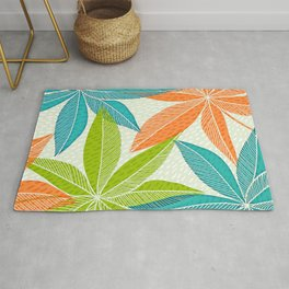 Aloha Spirit - Bright Retro Hawaiian Print Rug