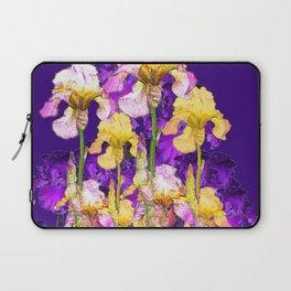 Contemporary Purple Yellow Iris Garden Art Laptop Sleeve
