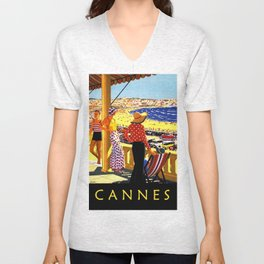Glorious Days of Cannes Unisex V-Neck