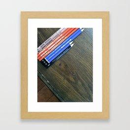 Art Pencils Framed Art Print