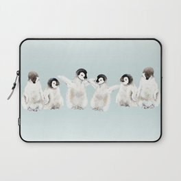 Playful Penguin Chicks - Watercolor Painting Laptop Sleeve