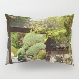 Entrance gate of the Japanese garden Pillow Sham