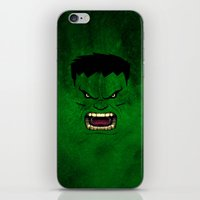 monster inc iPhone & iPod Skins featuring Monster Green by Inara