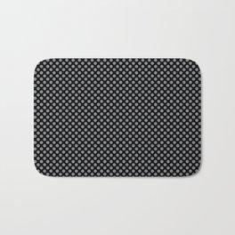 Black and Sharkskin Polka Dots Bath Mat