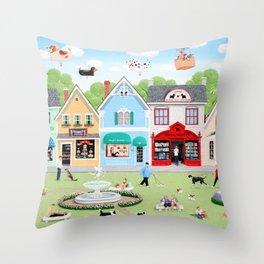 Dog Lovers Lane Throw Pillow
