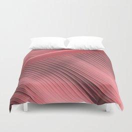 """""""Pastel Pink Big Leaf"""" Duvet Cover"""