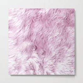 Furry Pink Metal Print