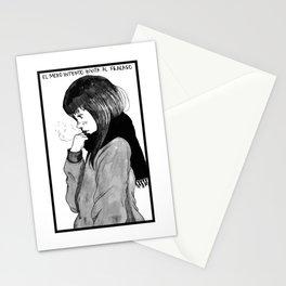 Aiko,manga portrait of goodnight pun pun, oyasumi punpun Stationery Cards