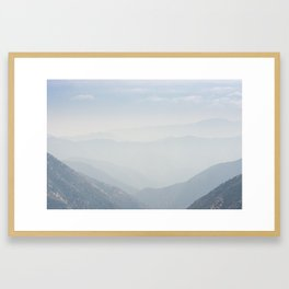 View of San Gabriel River Basin from Inspiration Point Framed Art Print