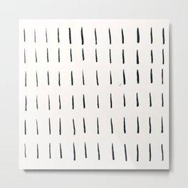 MOD_ShortDashesLight_Charcoal Metal Print