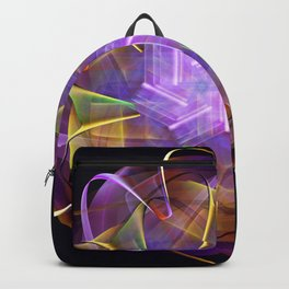 Colorful fractal atom shape Backpack