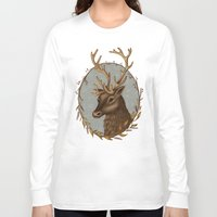reindeer Long Sleeve T-shirts featuring Reindeer by Sarah DC