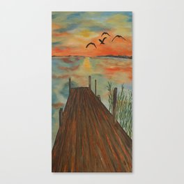 Admire The Wonder Of A Sunset Canvas Print