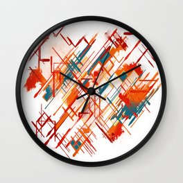 Abstract Red River Wall Clock