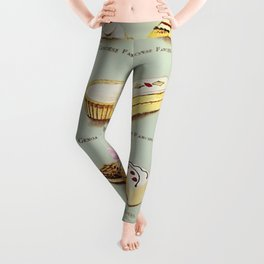 From the Book of Cakes, Variety of Fancies, Cakes, and Delicious Deserts  Leggings