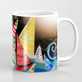 Night Sailing - Aurora Art Moonlight Stars Night Coffee Mug