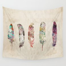 pop art feathers Wall Tapestry