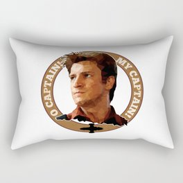 Cpt Malcolm Reynolds // Firefly // Nathan Fillion, Low Poly, Browncoats, Captain Tightpants Rectangular Pillow