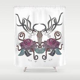 THE EVIL DEER Shower Curtain