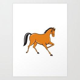 Horse Cantering Side Cartoon Art Print