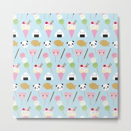 Japanese Kawaii Snacks Metal Print