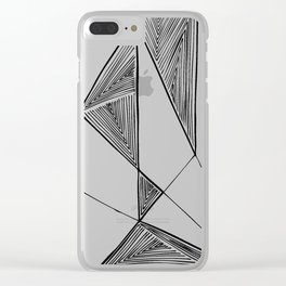 Triangles perspective geometric ink-pen drawing Clear iPhone Case